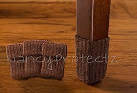 small chocolate brown with rubberized grips chair leg floor