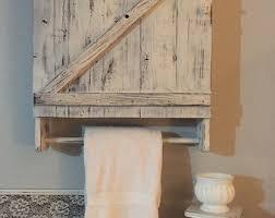 Wood Bathroom Shelves by Towel Rack Etsy