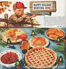 a wacky collection of ads photos and card from thanksgivings