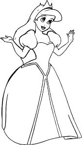 wedding princess ariel coloring page wecoloringpage