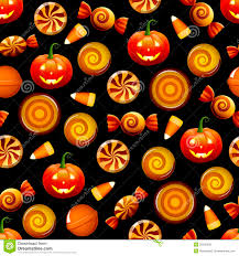 halloween pumpkin black background halloween candy seamless pattern with pumpkins royalty free stock