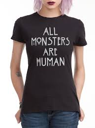 scary halloween shirts american horror story all monsters are human girls t shirt topic