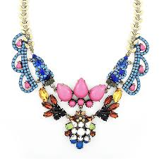 coloured crystal necklace images Alexandra crystal necklace multicolor glass crystal statement jpg