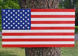 Wooden American Flag Wall Hanging Wood Decor