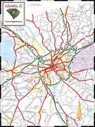 road map of south carolina columbia sc map