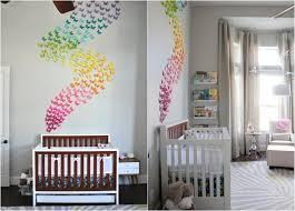 deco chambres bébé décoration chambre bébé papillons papier arc en ciel 3d jpg 750 539