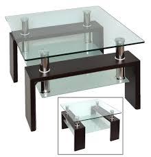 beistelltische echtholz couchtisch holz glas metall couchtische glas metall store