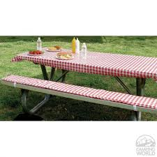 vinyl picnic table and bench covers furniture delectable round vinyl picnic tablecloth flannel backed