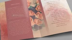 modern funeral programs products tagged with funeral program template