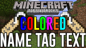 minecraft xbox one colored name tag text hidden color glitch