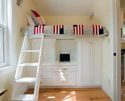 Wooden Loft Bed With Desk Underneath Bedroom Wood Bunk Beds With Desk And Dresser Bunk Bed With Desk