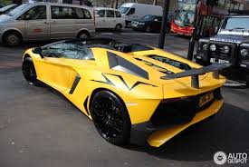 lamborghini aventador roadster yellow lamborghini aventador lp750 4 superveloce roadster 12 march 2016