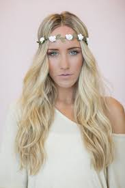 flower bands flower crown white headband wedding festival hair bands