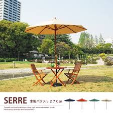 kagu350 rakuten global market table kagu350 rakuten global market garden umbrellas 270 ivory wooden