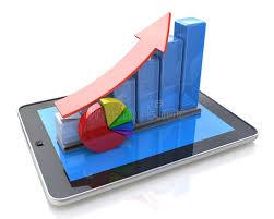 bureau mobile statistiques rendant compte développement