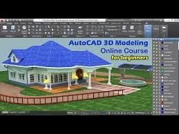 autocad 3d house modeling tutorial beginner 3d drawing design