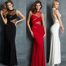 new women long sleeve prom ball cocktail party dress formal