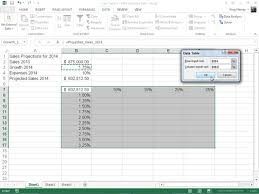 How To Do A Pivot Table In Excel 2013 How To Create A Two Variable Data Table In Excel 2013 Dummies