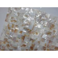 Mother Of Pearl Tile Backsplash Ideas Natural Shell Materials - Seashell backsplash