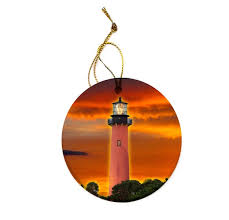 jupiter lighthouse ornament orange huedew