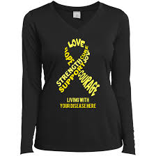 ribbon with words customizable yellow awareness ribbon with words women s