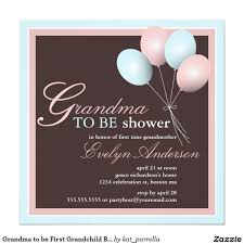 grandma to be first grandchild baby shower card grandchildren