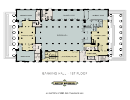 san francisco floor plans the banking hall