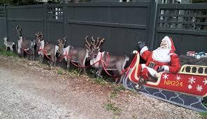 santa sleigh and reindeer rooftop santa with sleigh and reindeer googleplex murals