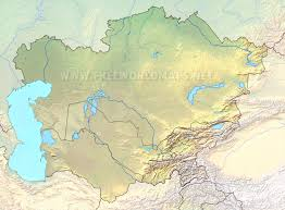 Yellow River Map Central Asia Physical Map