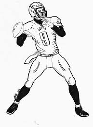 coloring pages football player 100 images football coloring