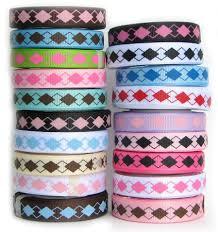 ribbon grosgrain argyle ribbons hip girl boutique llc free hairbow