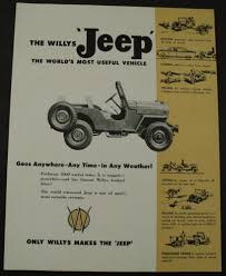 willys jeep truck green 1955 willys jeep 4 wheel drive truck sales brochure overland