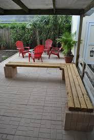 bench concrete benches lowes shop in w x l concrete patio bench