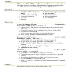 Hvac Resume Templates Hvac Resume Template Hvac Resume Sample Power Plant Electrical