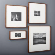 Picture Frames And Mats by Gallery Walnut Picture Frames Cb2