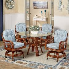 casual dining room chairs casual dining sets with caster chairs room set table rolling