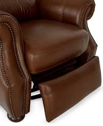 Brown Leather Recliner Royce Leather Recliner Chair Furniture Macy U0027s