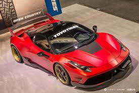 widebody ferrari misha designs partners with carninja to create ferrari 458 italia