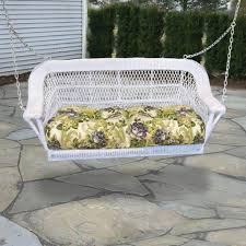 outdoor u0026 garden white wicker patio swing desing with tufted