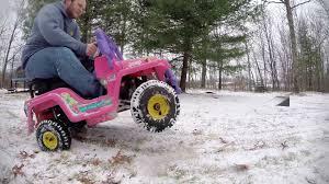 barbie porsche gas powered power wheels barbie jeep youtube