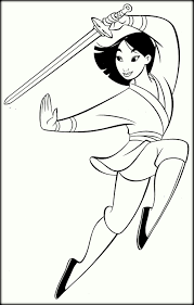 disney princesses coloring pages mulan eliolera