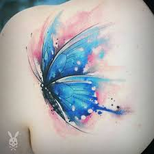 pleasant butterfly shoulder tattoos and designs