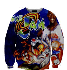 space jam sweater on the hunt