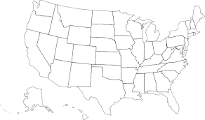 empty map of united states map us outline style major tourist attractions maps