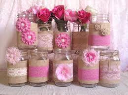 frascos de vidrio decorado en rosa botellas frascos macetas