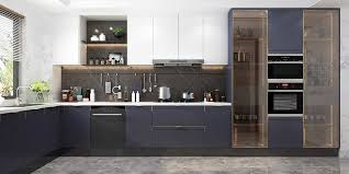 navy blue and grey kitchen cabinets modern navy blue white lacquer kitchen cabinet plcc20017