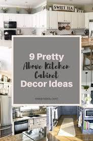 above kitchen cabinet design ideas 9 pretty above kitchen cabinet decor ideas materialsix