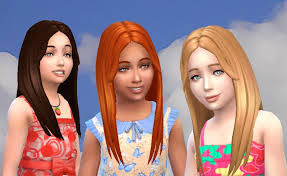 custom hair for sims 4 mystufforigin single hair for girls sims girls and sims cc