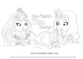 hat tastic party coloring page ever after high