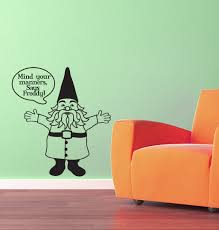 gnome vinyl wall decal with custom word bubble zoom
